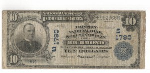 $10 1901. National Currency