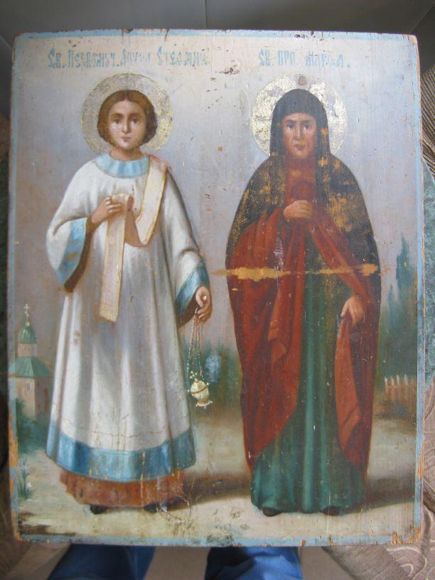 святые стефан и тамара икона фото справа крепится
