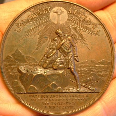 Медаль Александр-II 1000-летие христианства в Финляндии 1857 : Медали